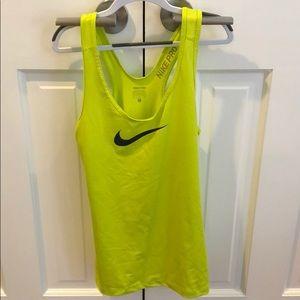 Nike bright yellow racerback tank top